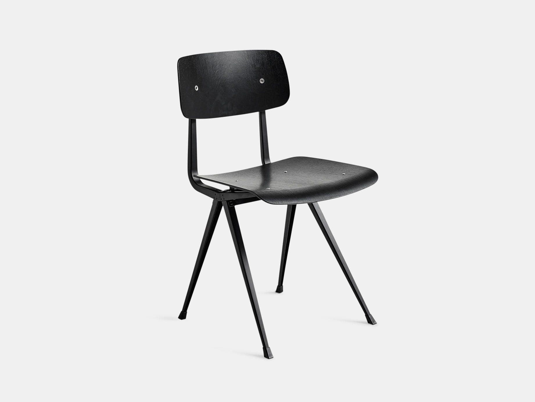 Hay Result Chair Black Black Legs Wim Rietveld Friso Kramer