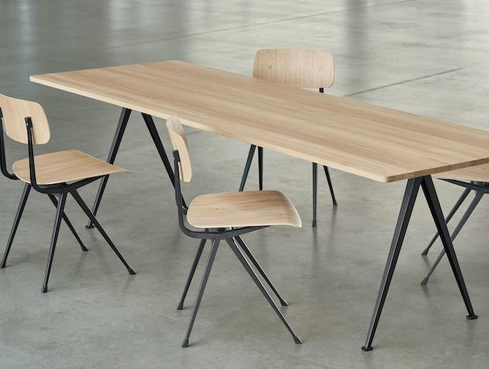 Hay Result Chair Oak Black Pyramid Table Wim Rietveld Friso Kramer