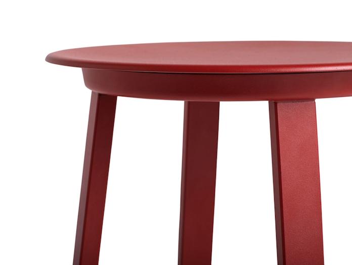 Hay Revolver Low Stool Red Seat Detail Leon Ransmeier