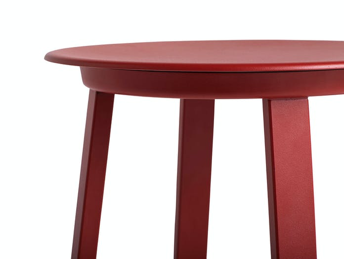 Hay Revolver Low Stool Red Seat Detail Leon Ransmeier