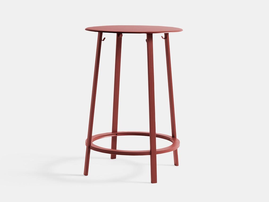 Hay Revolver Table Red Leon Ransmeier