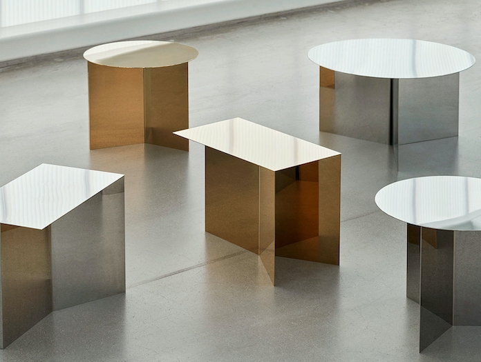 Hay Slit Table Family Brass Mirrored 2019