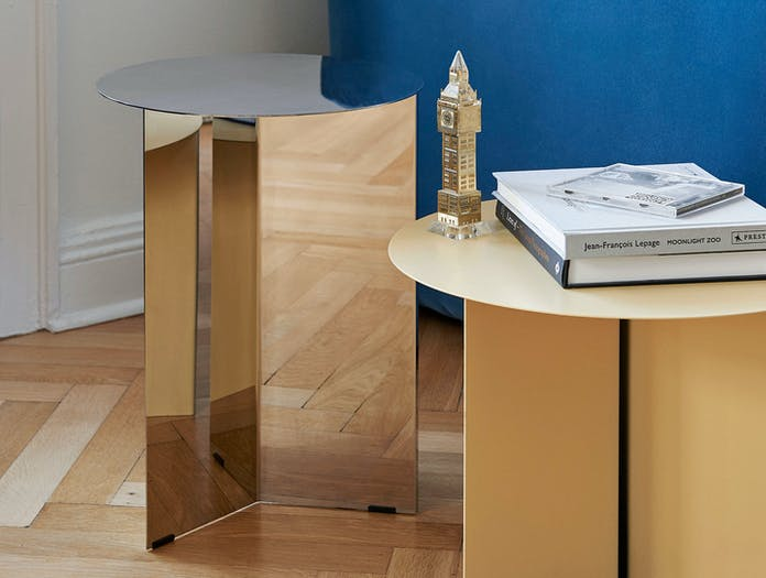 Hay Slit Table High Mirror Light Yellow Detail