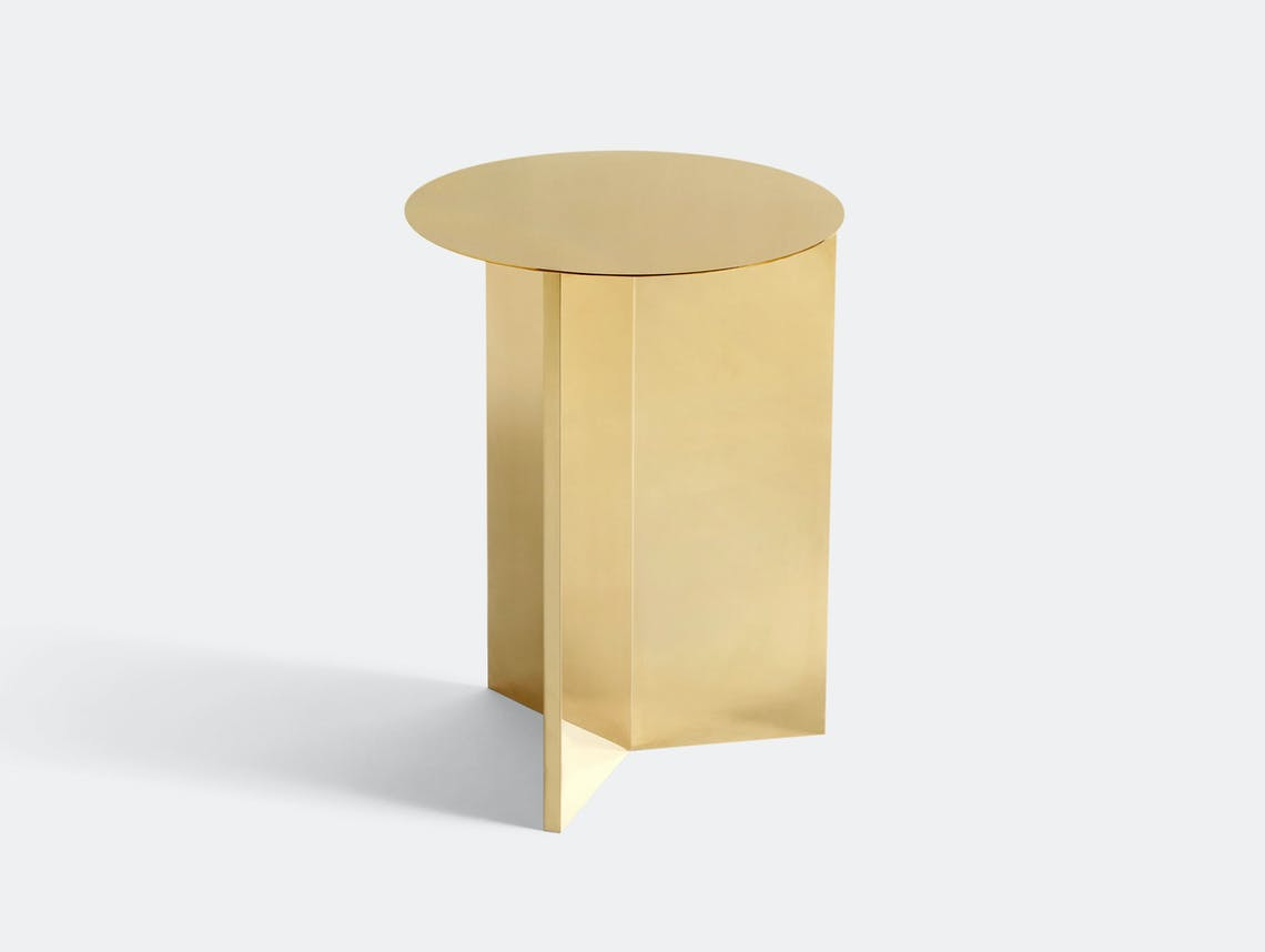 Hay Slit Table High Brass