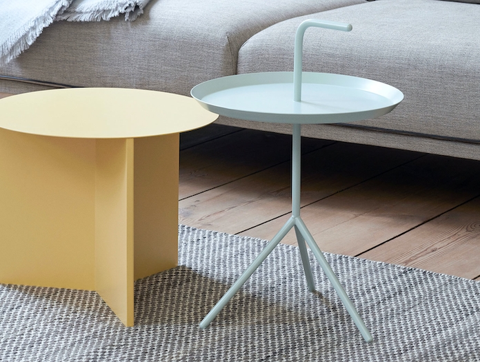 Hay Slit Table Light Yellow Dlm Mint