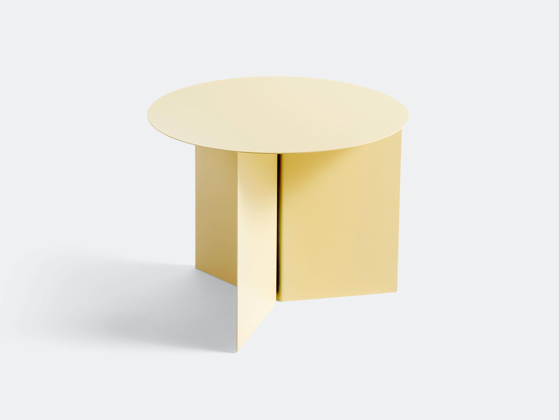 Hay Slit Table Round Light Yellow