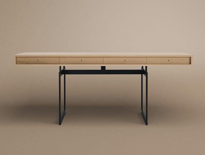Karakter Office Desk Grey Frame Front Bodil Kjaer