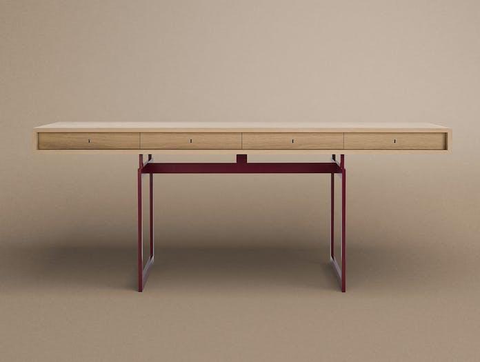 Karakter Office Desk Red Frame Front Bodil Kjaer