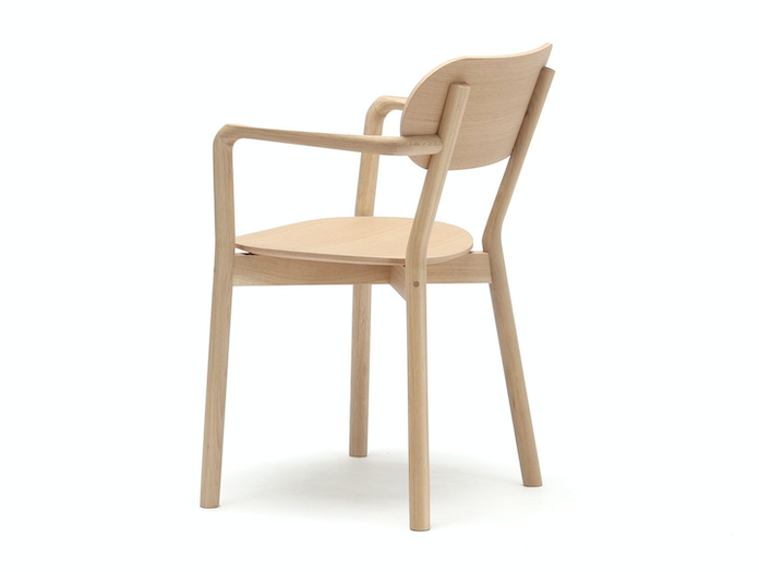 Karimoku Castor Armchair Plus Oak Back Big Game