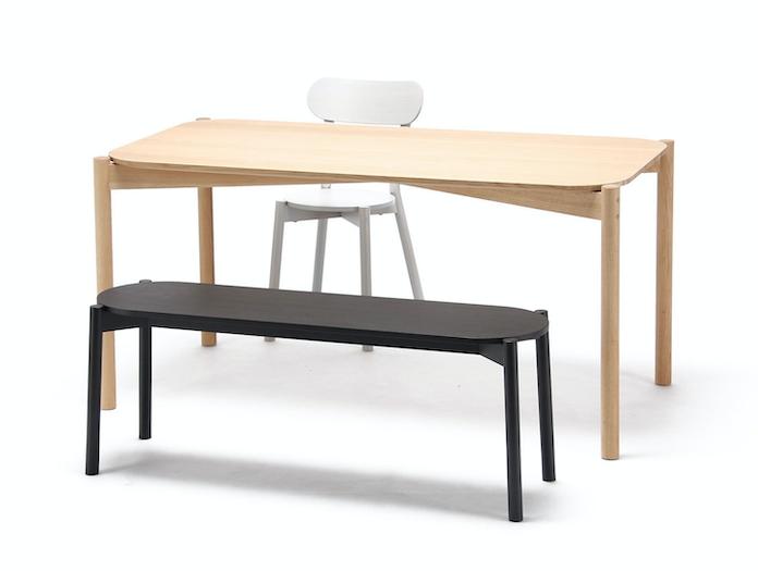 Astounding Castor Dining Bench Andrewgaddart Wooden Chair Designs For Living Room Andrewgaddartcom