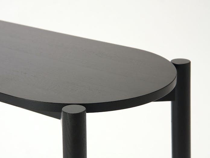 Karimoku Castor Dining Bench Black Detail Big Game