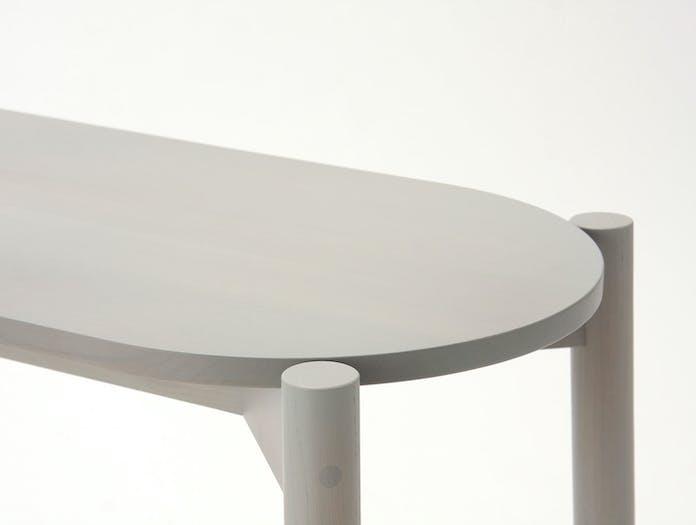 Karimoku Castor Dining Bench Grey Detail Big Game