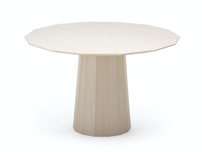 Karimoku Colour Wood Dining Table Grey Grid W Scholten Baijings