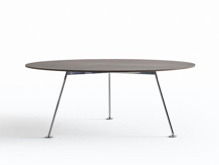 Knoll Grasshopper Table Round Wood Piero Lissoni