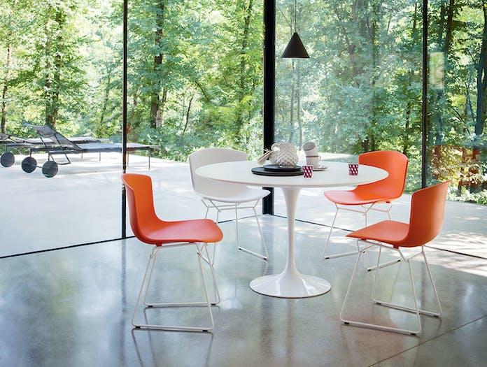 Knoll Round Dining Table White Eero Saarinen