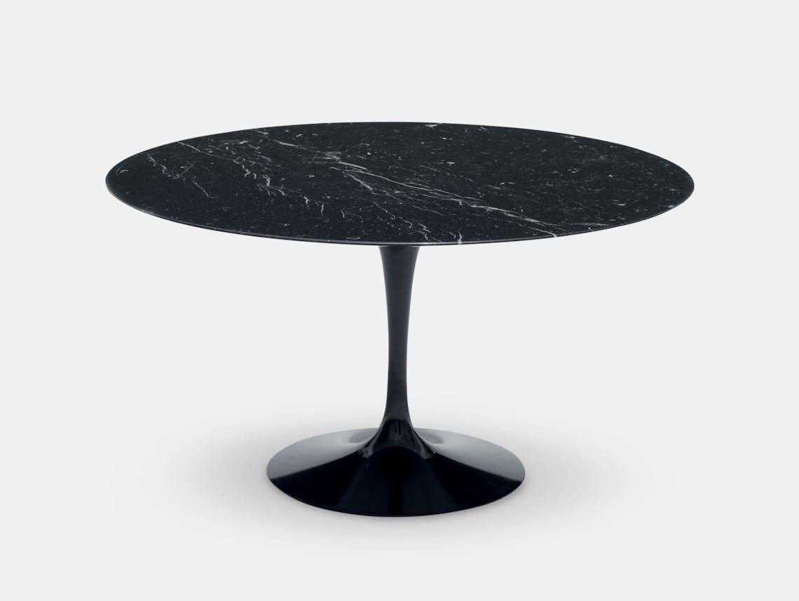 Knoll Saarinen Round Dining Table Black Eero Saarinen
