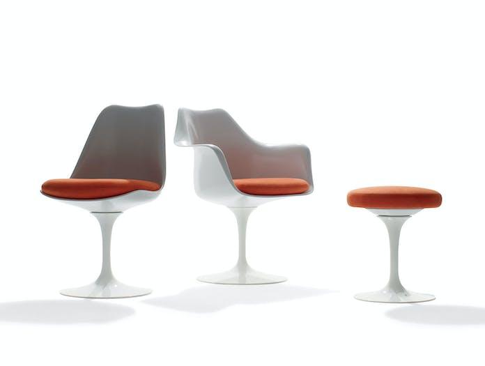 Knoll Tulip Chairs Footstool Eero Saarinen