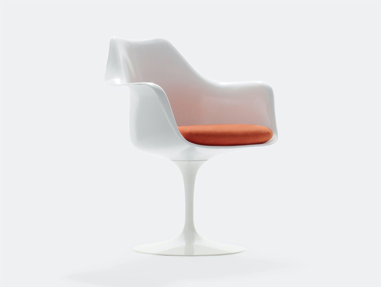 Knoll Tulip Side Chair With Arms Eero Saarinen