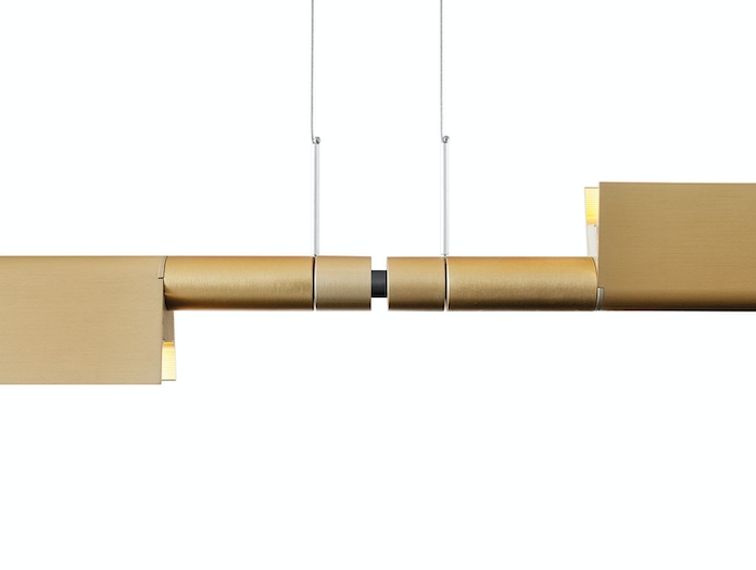 Luceplan Compendium Suspension Light 2 Brass Detail Daniel Rybakken