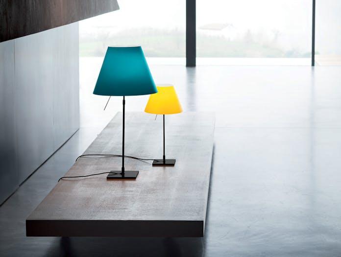 Luceplan Costanza Table Lamps Black Stem Paolo Rizzatto