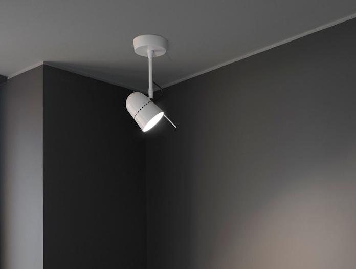 Luceplan Counterbalance Spot Light Ceiling White Daniel Rybakken