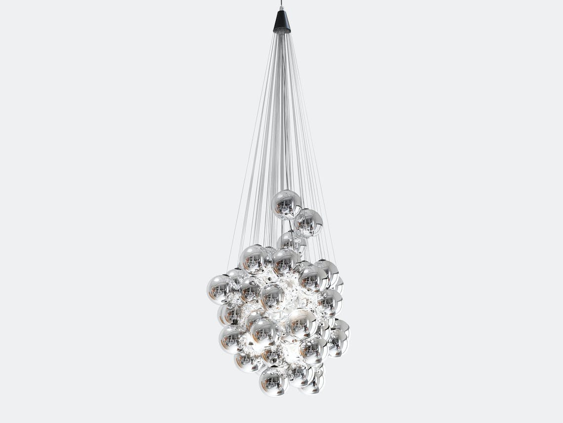 Luceplan Stochastic Suspension Light Metallized Mirror Daniel Rybakken