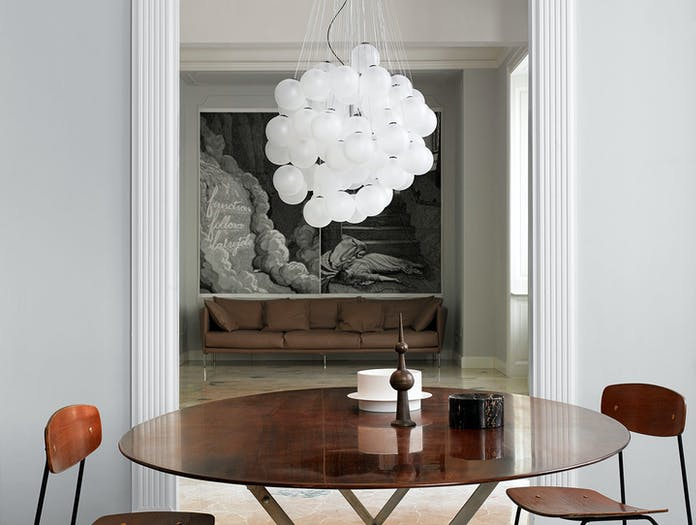 Luceplan Stochastic Suspension Light Satin White 2 Daniel Rybakken