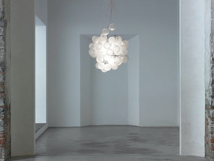 Luceplan Stochastic Suspension Light Satin White 3 Daniel Rybakken