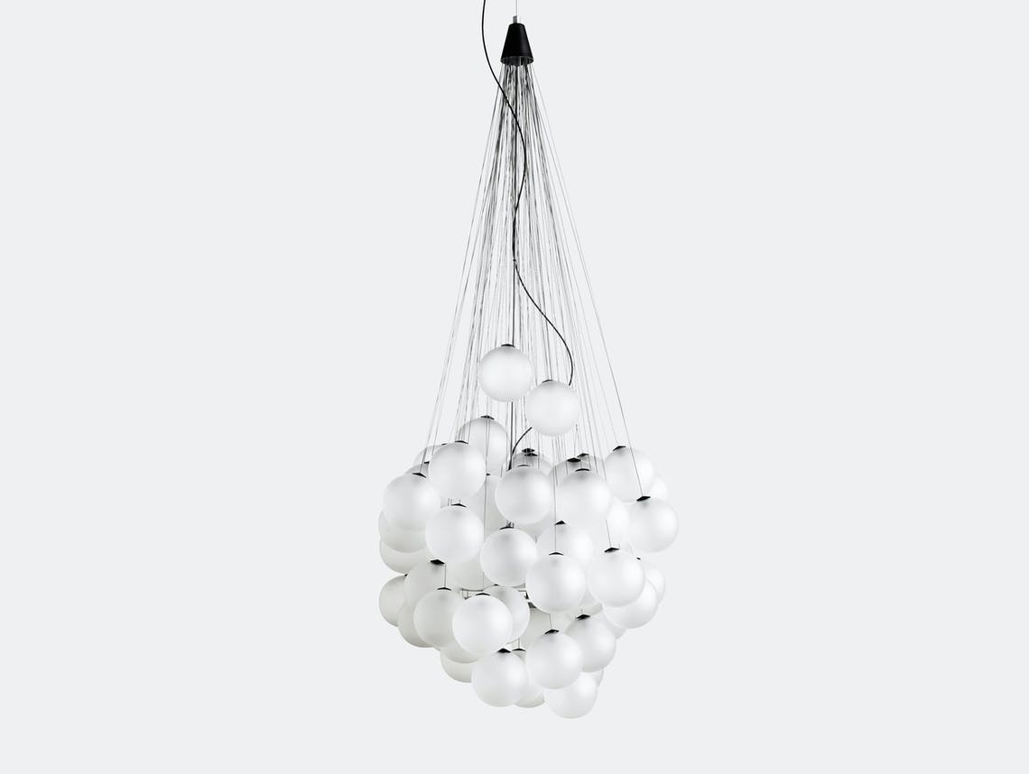 Luceplan Stochastic Suspension Light Satin White Daniel Rybakken