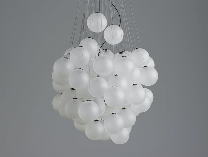 Luceplan Stochastic Suspension Light Satin White Off Daniel Rybakken