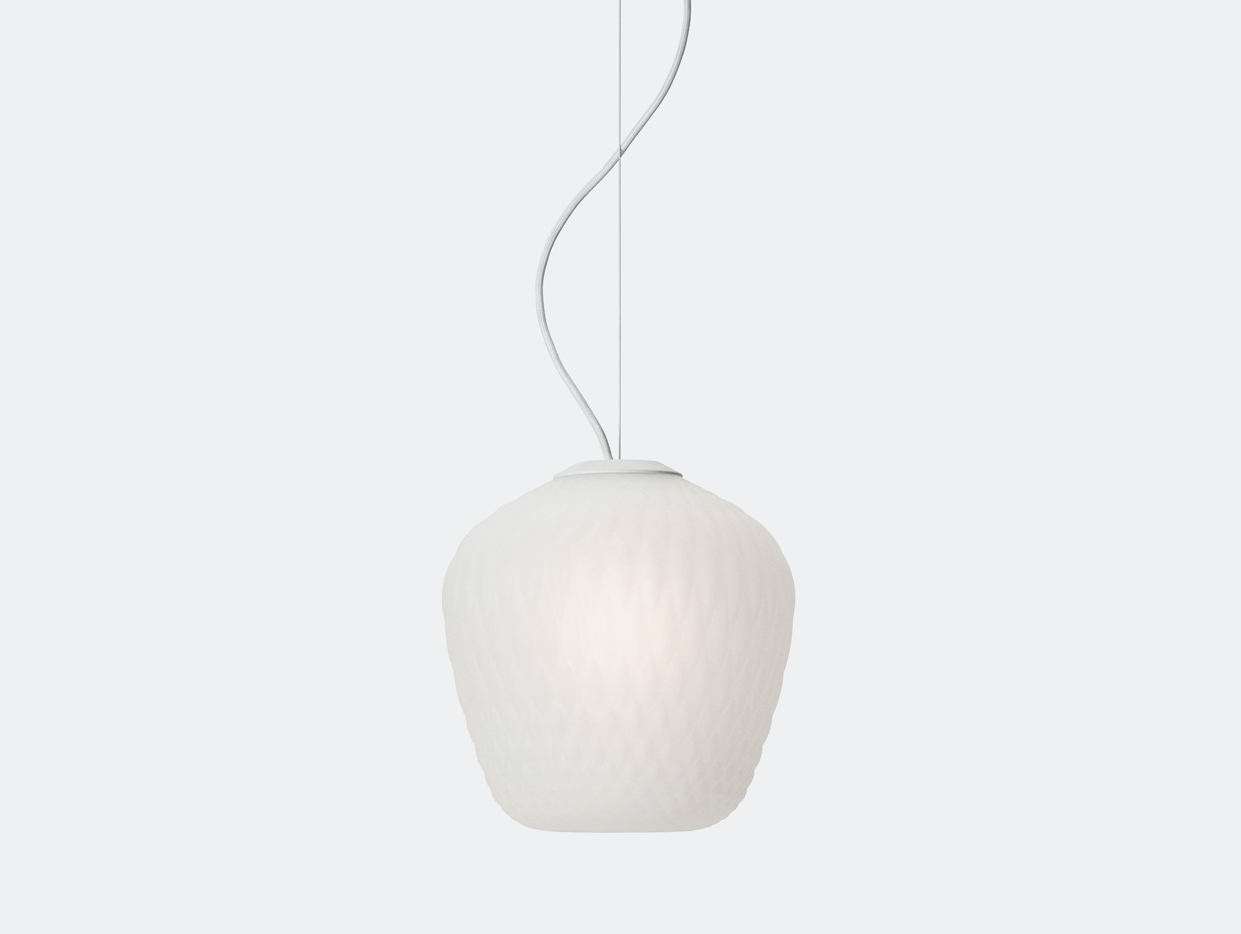 And Tradition Blown Pendant Lamp Sw3 White Samuel Wilkinson