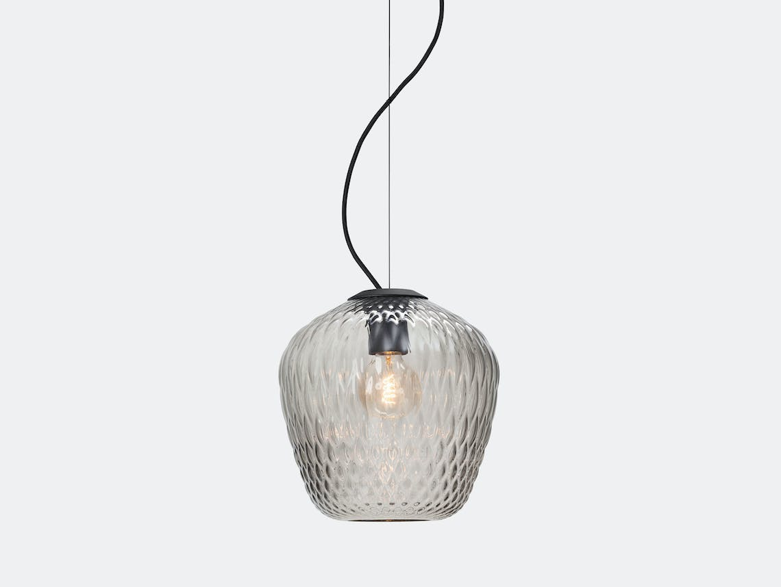 And Tradition Blown Pendant Lamp Sw3 Silver Samuel Wilkinson