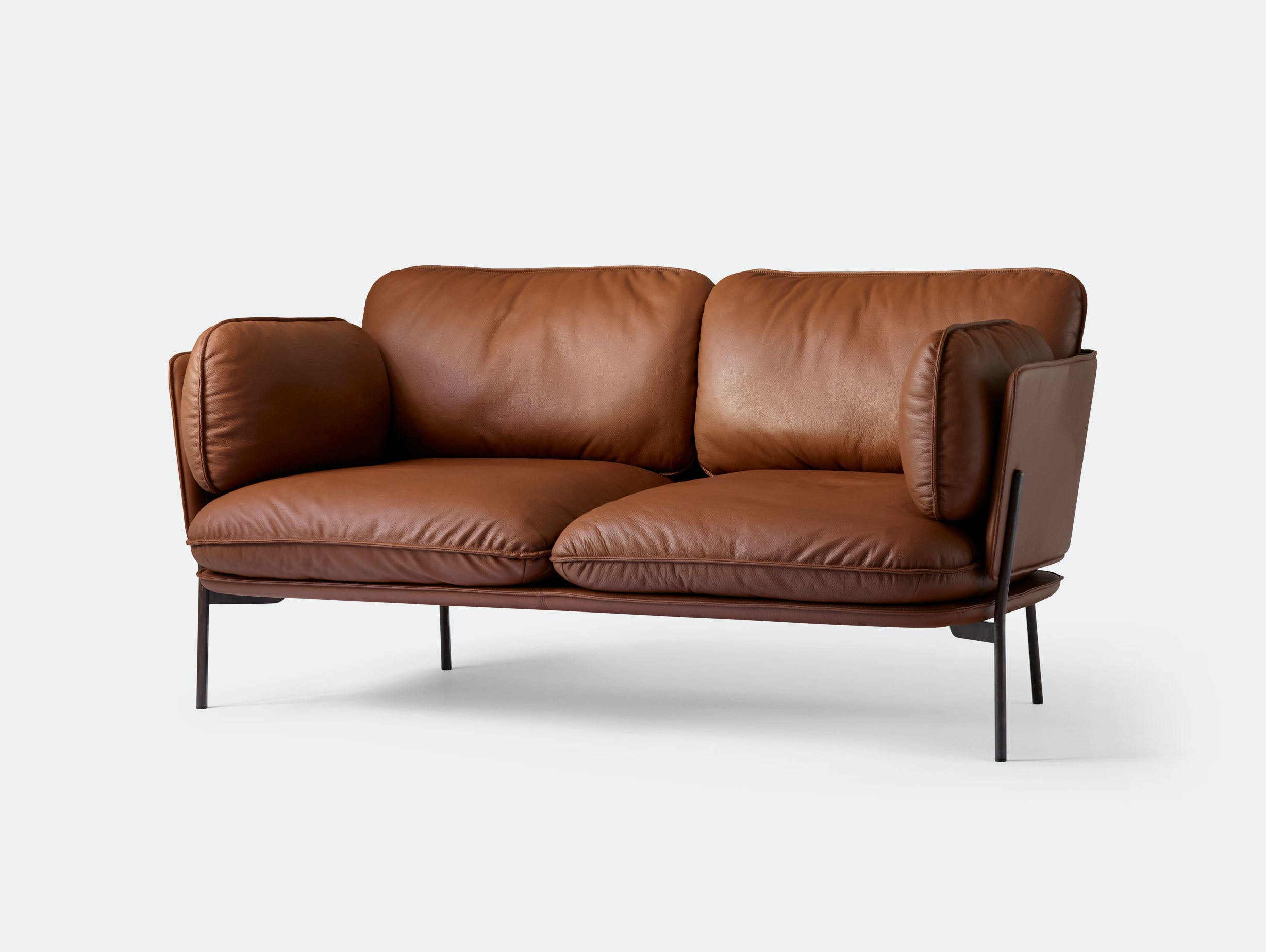 And Tradition Cloud Sofa Brown Leather Ln2 Luca Nichetto