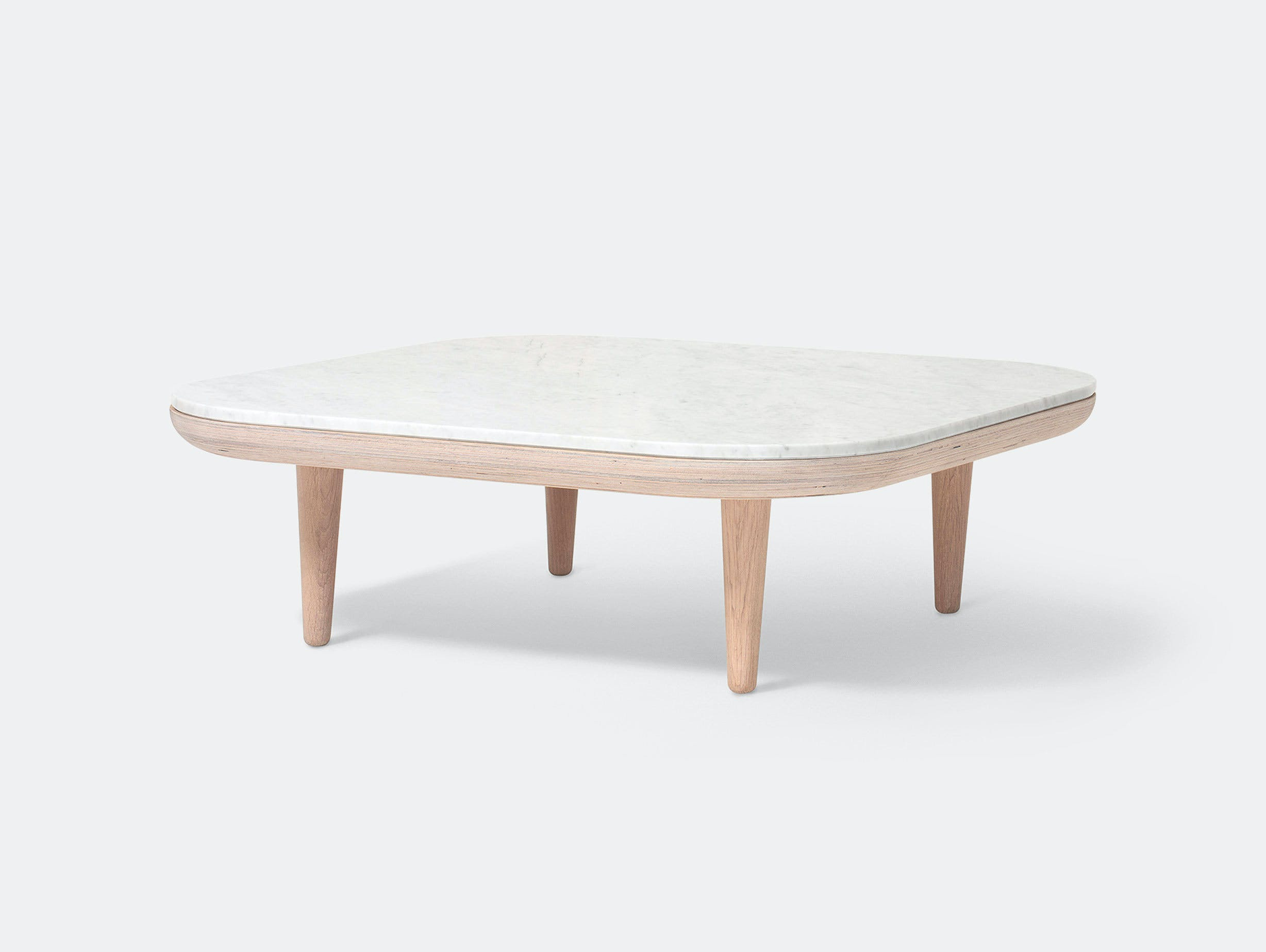 And Tradition Fly Table Oak White Marble Space Copenhagen