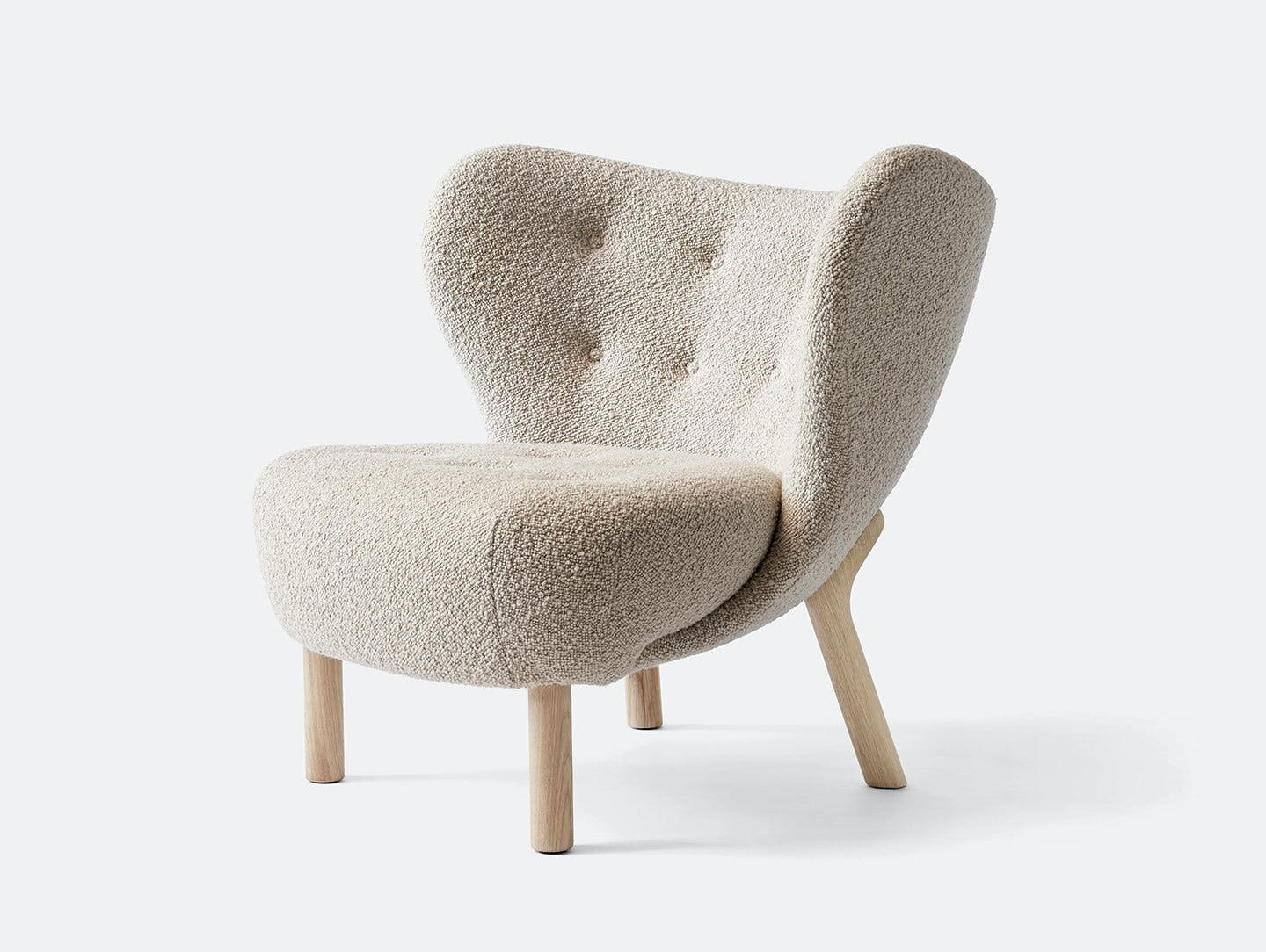 And tradition little petra lounge chair oak kara