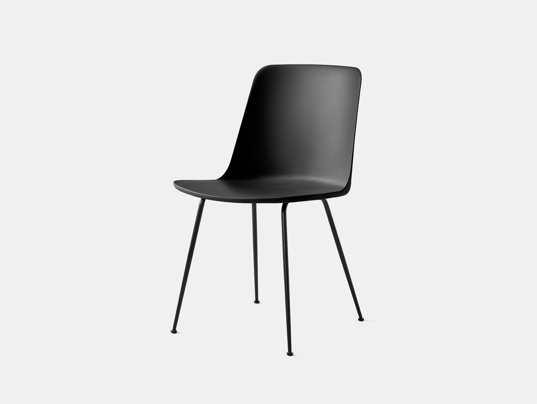 Andtradition rely chair four leg blk black