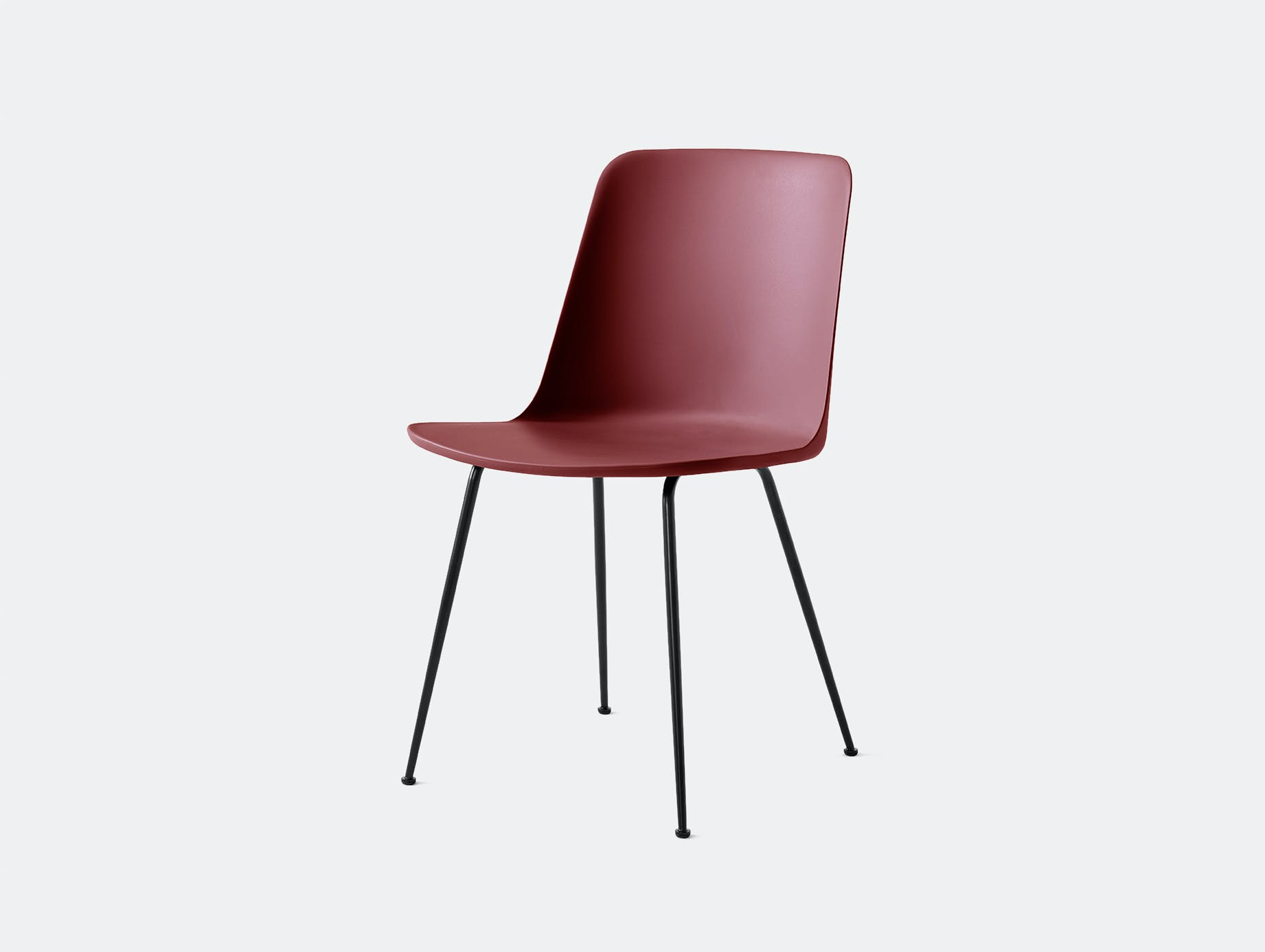 Andtradition rely chair four leg blk redbrown