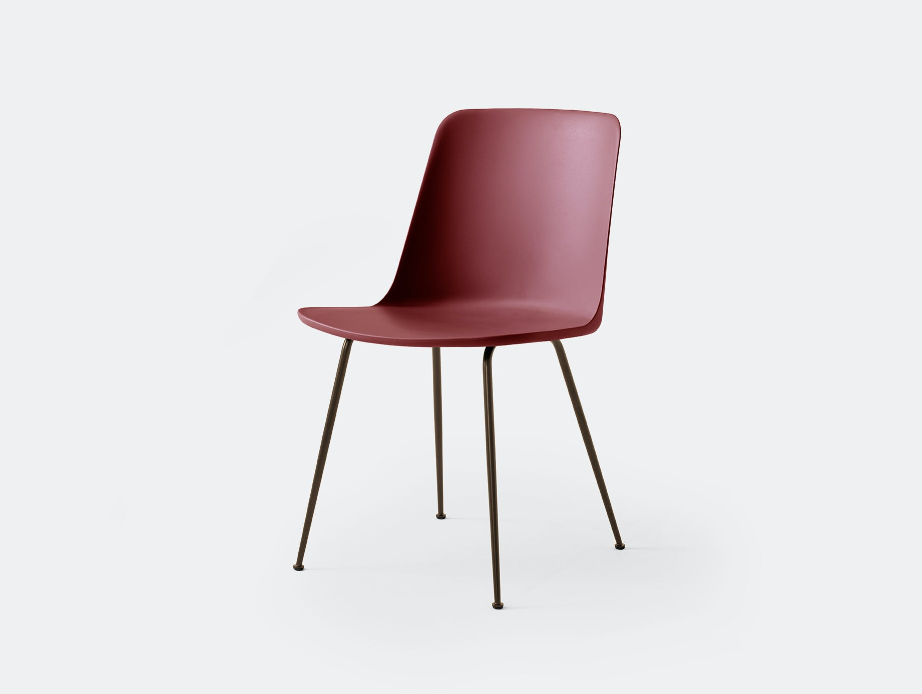 Andtradition rely chair four leg brz redbrown