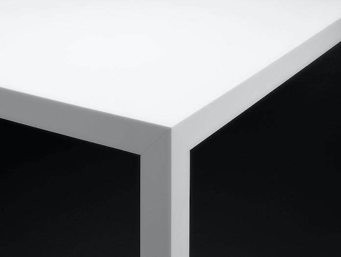 Mdf Italia Tense Table White Detail Piergiorgio Cazzaniga
