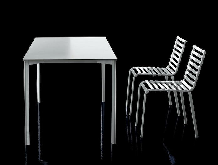 Magis Striped Table Chairs Outdoor Ronan Erwan Bouroullec