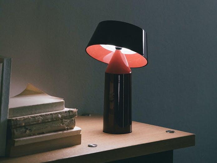 Marset Bicoca Portable Table Lamp Wine Red Christophe Mathieu