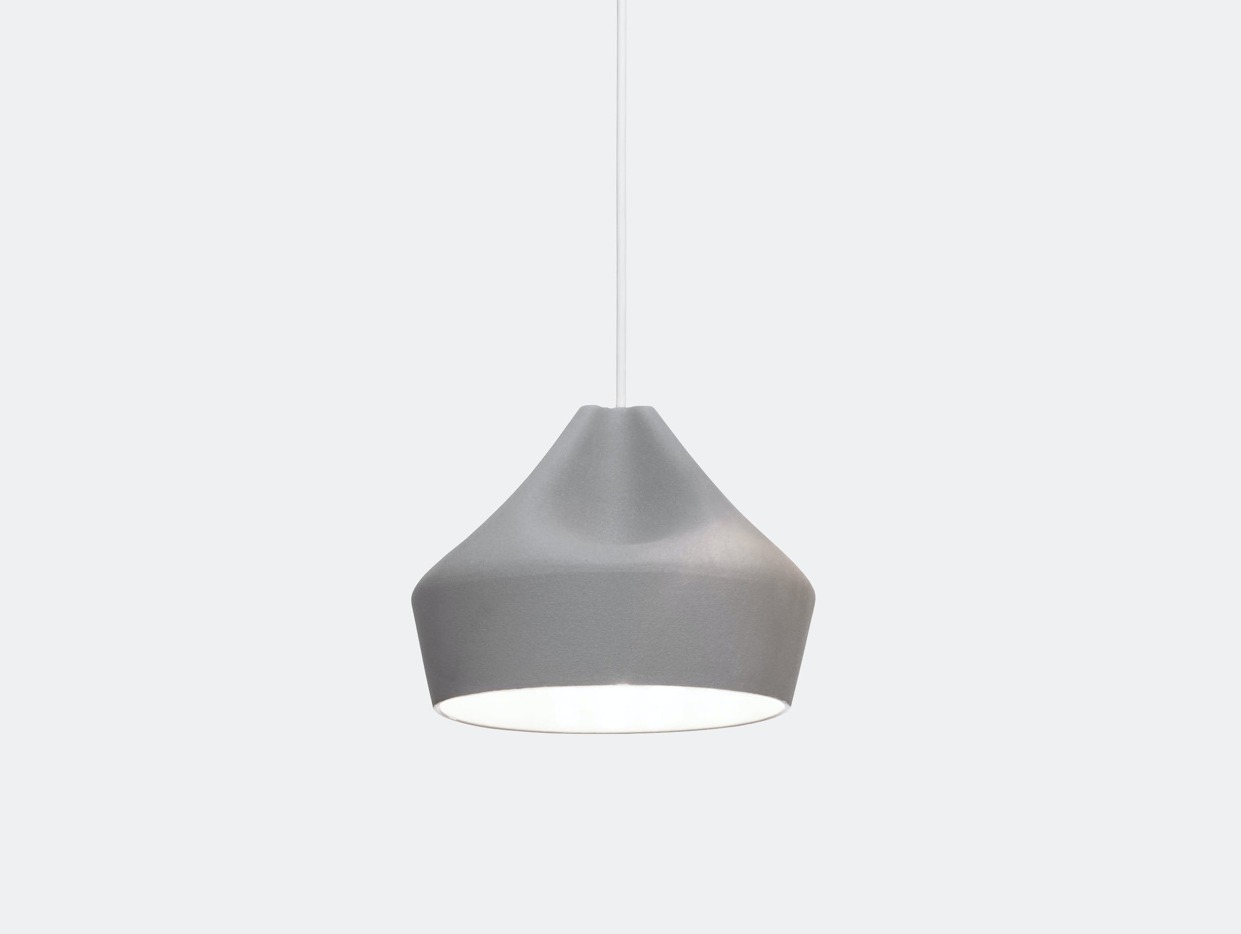Marset Pleat Box 24 Led Pendant Light Grey White Xavier Manosa Mashallah
