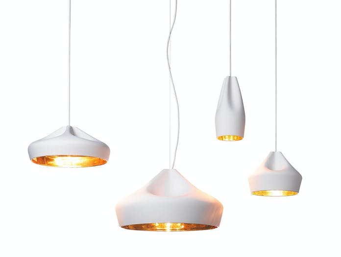 Marset Pleat Box Pendant Lights White Gold Xavier Manosa Mashallah