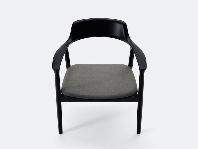 Maruni Hiroshima Lounge Chair Beech Black Naoto Fukasawa