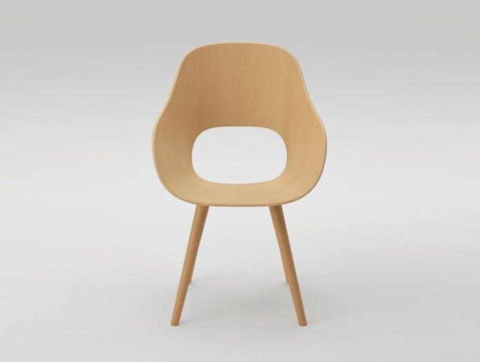 Maruni Roundish Armchair Front Oak Naoto Fukasawa
