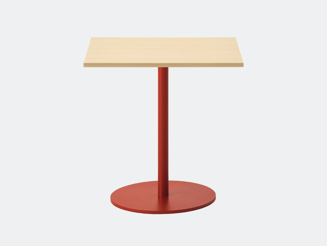 Maruni T O Rectangular Table Maple Red Jasper Morrison