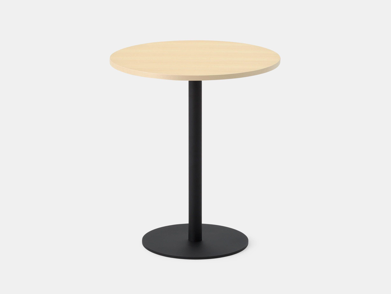 Maruni T O Round Table Maple Black Jasper Morrison
