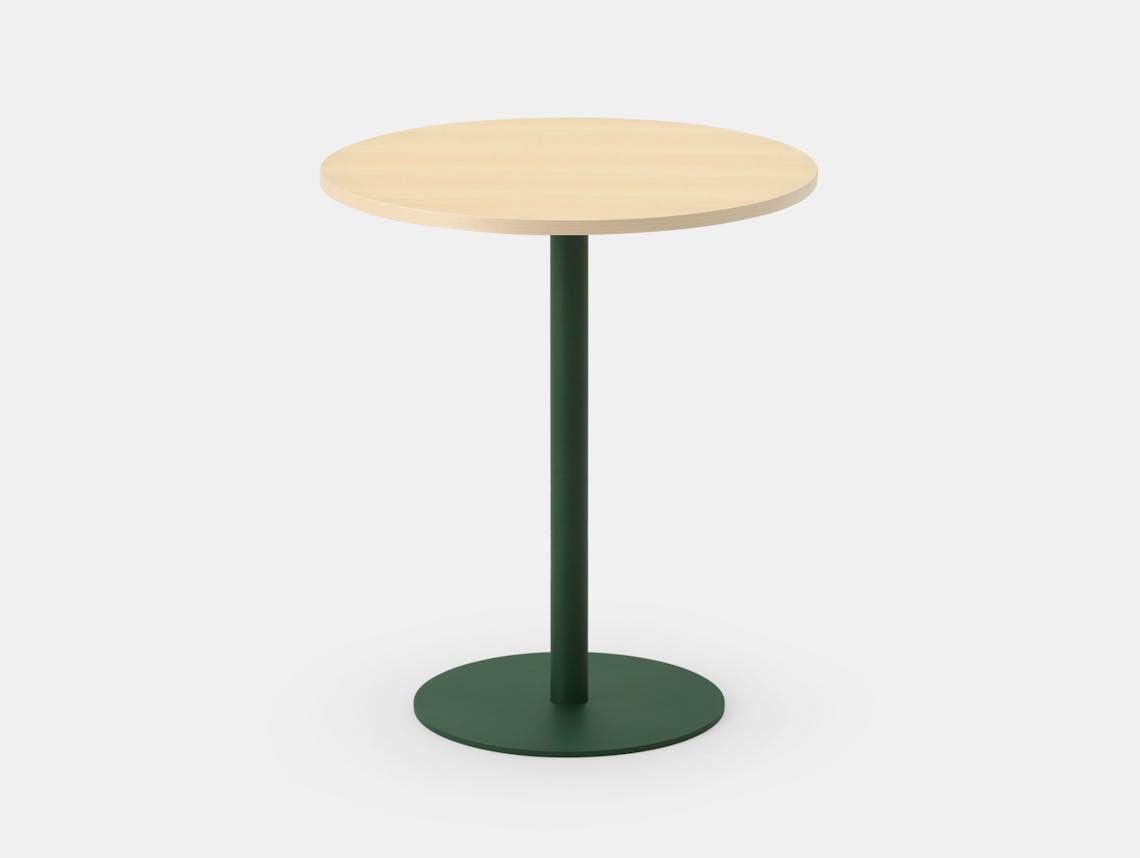 Maruni T O Round Table Maple Green Jasper Morrison