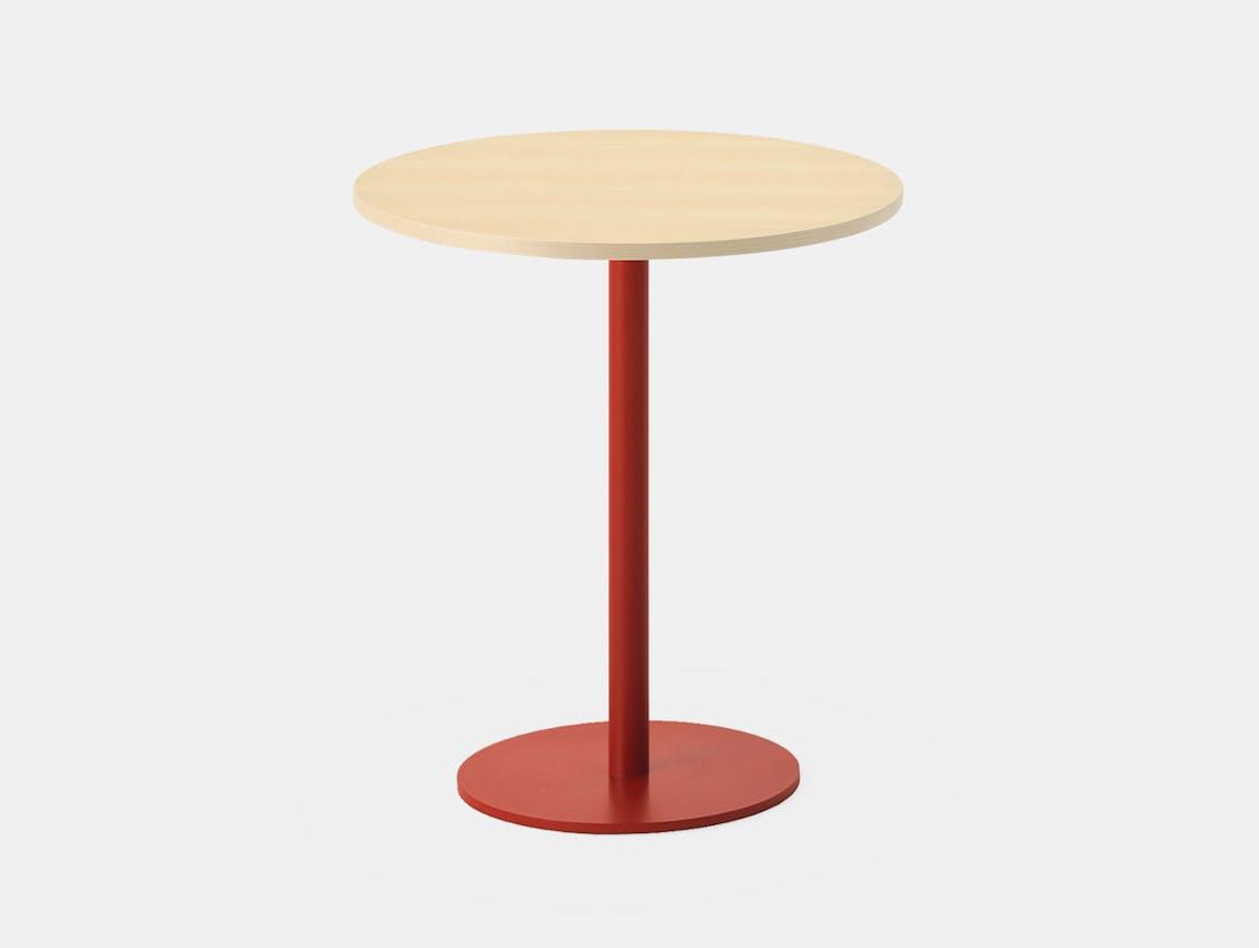 Maruni T O Round Table Maple Red Jasper Morrison