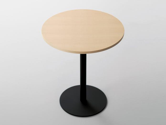 Maruni T O Round Table Maple Top Black Jasper Morrison